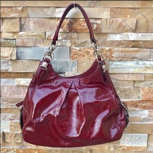 Coach Patent Leather Cranberry Maggie Mia Hobo